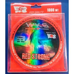 MONOFIL WAKASU 0.200 MM 3000 M RED STRONG